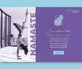 Home yoga exercise poster vector