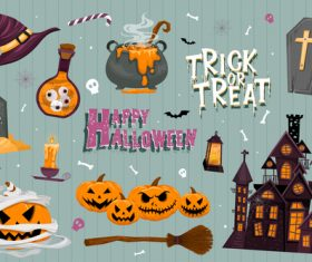 Illustration halloween element vector