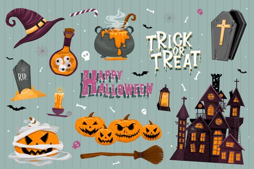Illustration halloween element vector