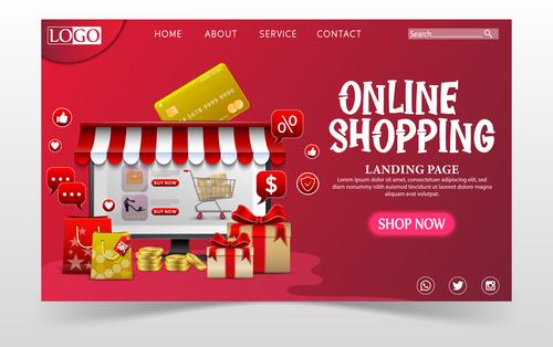 Illustrator online store page login vector