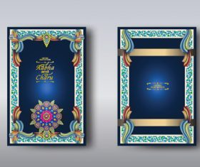 Indian wedding invitation card vector