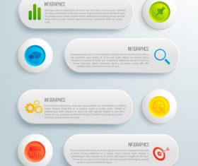 Info graphic object navigation design vector