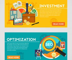 Investment flat concept vector