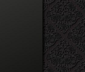 Islamic black ornament vector