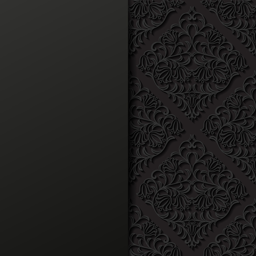 Islamic black ornament vector
