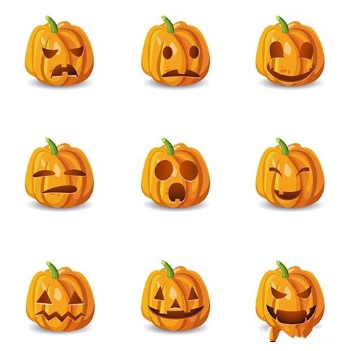 Isolated Halloween Pumpkin vector