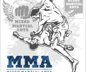 KO MMA fighting vector