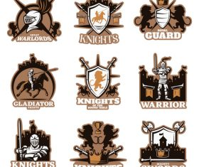 Knights of the round table logo vector