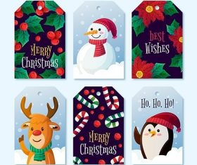 Label collection christmas theme vector