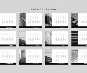 Ladder background 2021 calendar vector