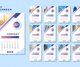 Landmark building cover 2021 calendar vector