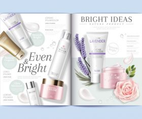 Lavender cosmetics brochure cover vector