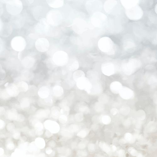 Light silver glitter textured social ads vector