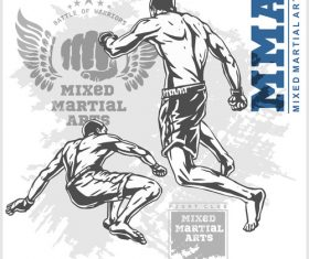 MMA Fight Poster Vector