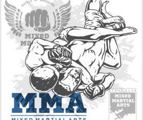 MMA Rear Naked Choke vector
