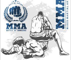 MMA battle of warriors vector