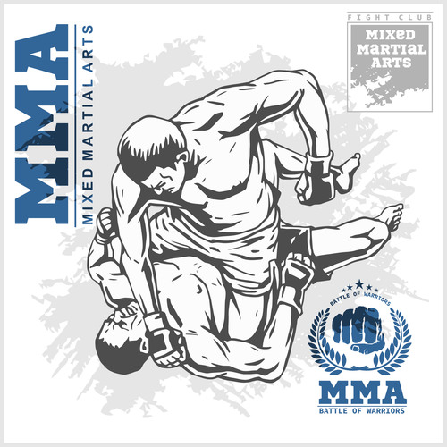 MMA fight vector posters