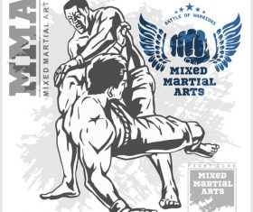 MMA mixed martial arts vector