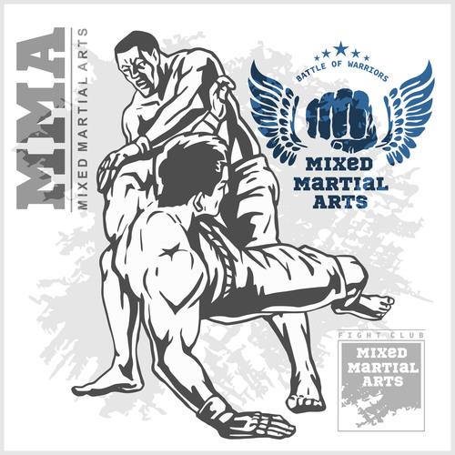 MMA mixed martial arts vector