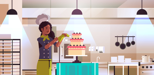 Making cake vector