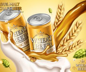 Malt craft beer advertising vector