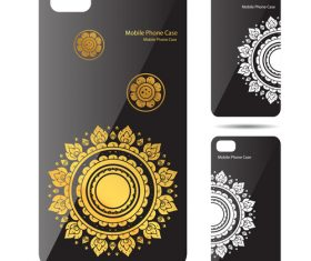 Mandala art pattern phone cases cover vector