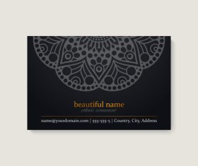 Mandala business card pattern vector
