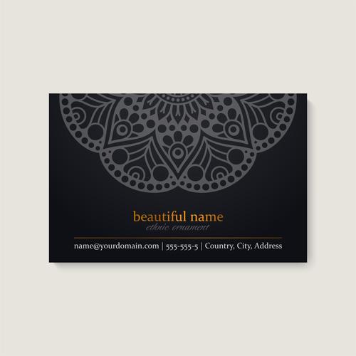 Mandala business card pattern vector