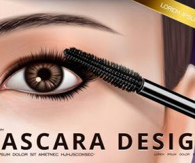 Mascara design vector