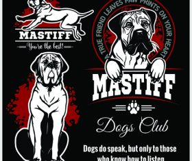 Mastiff logo vector