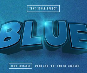 Matte background blue editable font effect text   vector
