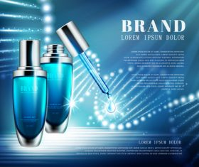Mens skin care water advertising vector