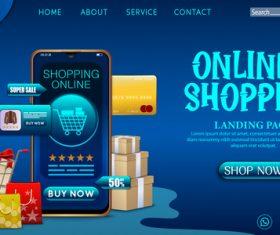 Mobile app shopping vector