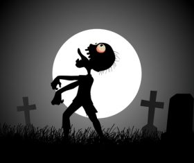 Moonlight Zombie vector