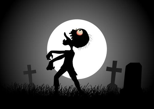 Moonlight Zombie vector