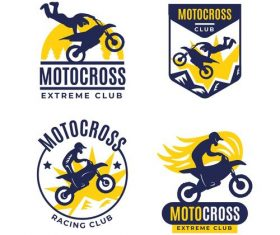 Motocross extreme club logo vector