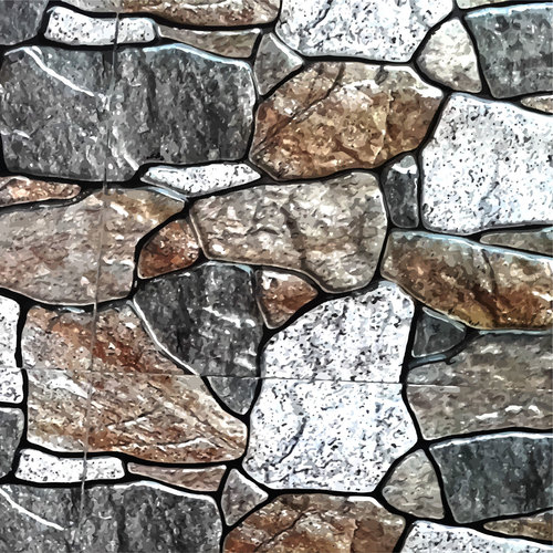 Multicolor stone texture vector
