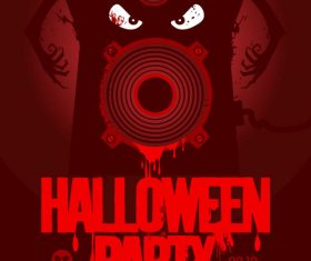 Music party halloween vector