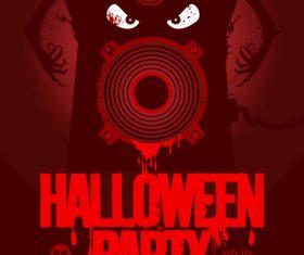 Music party halloween vector