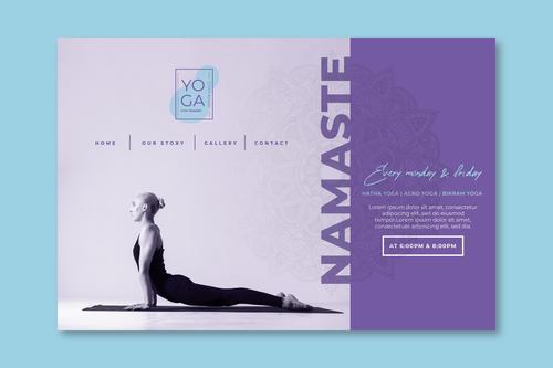 Namaste yoga poster vector