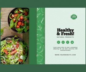 Natural products healthy vegetable food vector