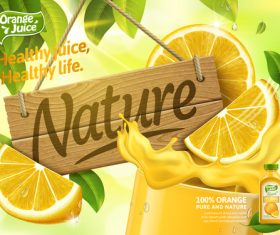 Nature healthy life advertising vector