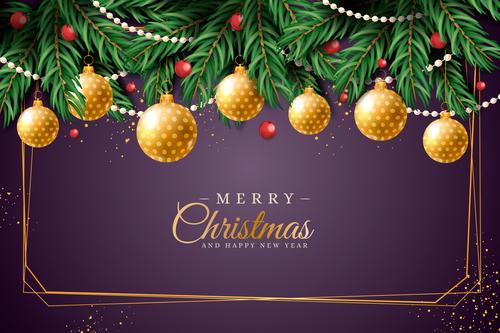 New Year design festive realistic background vector