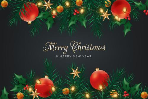 New Year greeting card vecto