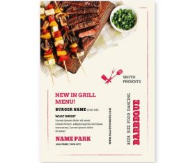 New in grill menu vector