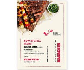New in grill menu vector