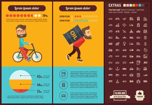 Oil economy infographic vector