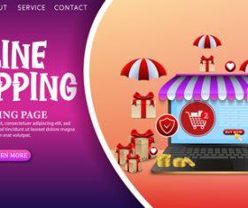 Online store vector