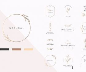 Organic product logo vector