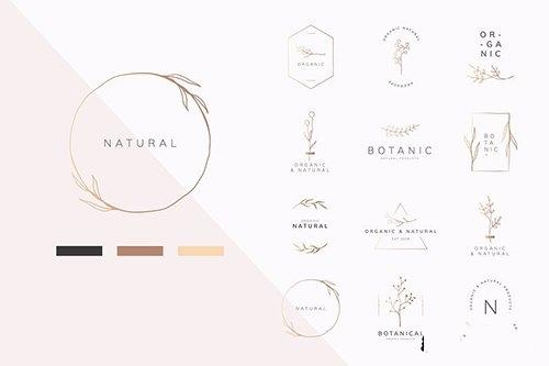 Organic product logo vector